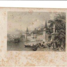 Arte: GRABADO FISHER.COM & SON DE CONSTANTINOPLA 1842. LO PUEDO ENVIAR RESTAURADO SIN MANCHAS 2. Lote 233034980