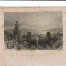 Arte: GRABADO FISHER.COM & SON DE CONSTANTINOPLA 1842. LO PUEDO ENVIAR RESTAURADO SIN MANCHAS 2. Lote 233035075