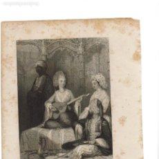Arte: GRABADO FISHER.COM & SON DE CONSTANTINOPLA 1842. LO PUEDO ENVIAR RESTAURADO SIN MANCHAS 2. Lote 233035120