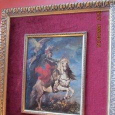 Arte: RETRATO ECUESTRE DE FELIPE V - FIRMADO EN 1737 - REPRODUCCIÓN AUTORIZADA PATRIMONIO NACIONAL.. Lote 233178235