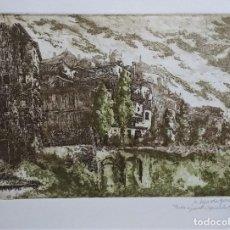 """Arte: AGUAFUERTE ORIGINAL.""""CUENCA"""" FIRMADO Y NUM. 4/30. CON SELLO Y CERTIFICADO DE ARTISTA. Lote 233191895"""
