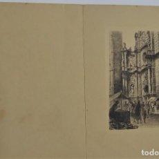 Arte: ANTIGUA.1950. FELICITACIÓN CON AGUAFUERTE. Lote 233787525