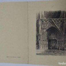 Arte: ANTIGUA. 1951. FELICITACIÓN MANUSCRITA CON AGUAFUERTE. Lote 233788115