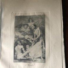 Arte: GRABADO DE FRANCISCO DE GOYA, 7 EDICION 1937, SOPLA, N. 69. Lote 233879160
