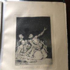 Arte: GRABADO DE FRANCISCO DE GOYA, 7 EDICION 1937, SI AMANECE NOS VAMOS, N. 71. Lote 233880550