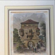 Arte: PUERTA OSTHOFENTOR DE LA CIUDAD DE SOEST (RENANIA DEL NORTE-WESFALIA, ALEMANIA) CA. 1865. ANÓNIMO. Lote 234011255