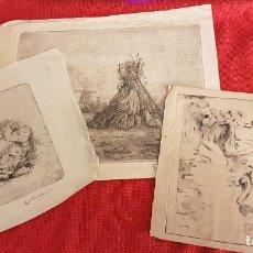 Arte: LOTE DE TRES GRABADOS PRINCIPIOS DEL S.XX. Lote 234296435