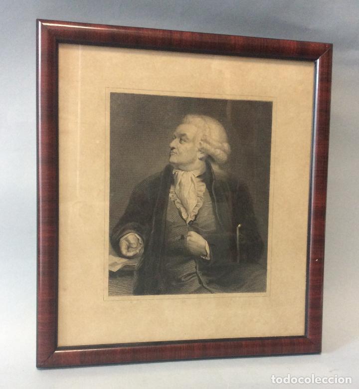 ANTIGUO GRABADO ,PERSONAJE DE LEYES,SIGLO XIX (Arte - Grabados - Modernos siglo XIX)