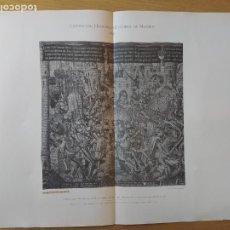 Arte: EXPOSICION HISTORICO-EUROPEA DE MADRID, 1892. EL SITIO DE TROYA, TAPIZ FLAMENCO, ED. LAURENT, 100. Lote 234535430
