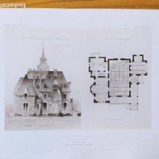 Arte: VILLA DE MR. G. DE M. A SAINT-PRIEST (LOIRE). FACADE ET PLANS,MR. NICOLAS VERNON,ARCHITECTE, 1897 59. Lote 234547935