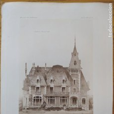 Arte: VILLA DE MR. G. DE M. A SAINT-PRIEST (LOIRE). FACADE SUR ,MR. NICOLAS VERNON,ARCHITECTE, 1897 58. Lote 234548045