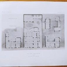 Arte: UN HOTEL PARTICULIER, PLANS, MR. JULIEN POLTI, ARCHITECTE, 1897 56. Lote 234548685