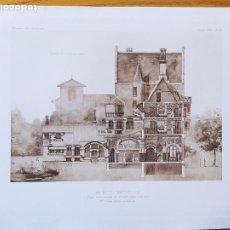Arte: UN HOTEL PARTICULIER, COUPE TRANSVERSALE, MR. JULIEN POLTI, ARCHITECTE, 1897 55. Lote 234548835