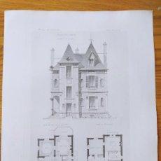 Arte: VILLA A SCEAUX, FACADE ET PLANS. MR. LEROY DE BONNEVILLE, ARCHITECTE. 1897 54. Lote 234549975
