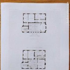Arte: MAIRIE POUR VILLE DE 3000 HABITANTS, PLANS, MR. HENRY PROVENSAL, 1897 51. Lote 234550835