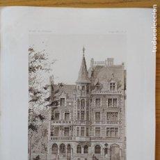 Arte: PROPRIETE DE MR. D. A SAINT-ETIENNE (LOIRE), FACADE DE L'HOTEL, MR. HENRI RIGAULT, 1897 49. Lote 234551305