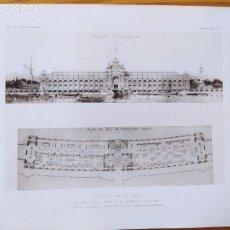 Arte: EXPOSITION DE 1900, BATIMENT DE LA GUERRE ET DE LA MARINE (CONCOURS). 1ER. PRIME. 1898 48. Lote 234551675