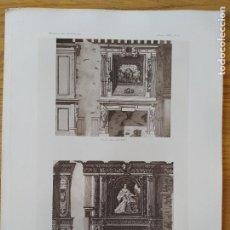 Arte: CHATEAU DE GOULAINE, RELEVE DE MR. CHAUSSEPIED, ARCHTECTE, 1898 46. Lote 234552120