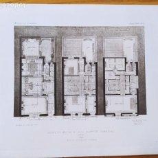 Arte: HOTEL DE MELLE DU M. DE LA COMEDIE FRANCAISE, A PARIS. PLANS. MR. HENRY GRANDPIERRE, 1898 45. Lote 234553235