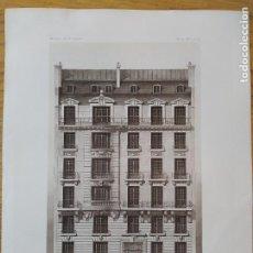 Arte: MAISON DE RAPPORT, A PARIS. AVENUE MALAKOFF, 83. FACADE SUR. MR. L. POMPEY, ARCHITECTE, 1897 41. Lote 234554925