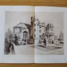 Arte: KELLOG TERRACE, GREAT BARRINGTON,(MASS).ETATS-UNIS D'AMERIQUE.FACADE SUR LE SALON DE MUSIQUE 1897 40. Lote 234555175