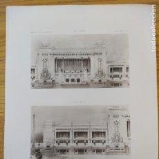 Arte: EXPOSITION DE 1900, BATIMENT DE LA GUERRE ET DE LA MARINE. MR. CHARLES LETROSNE, ARCHITECTE, 1898 35. Lote 234557305