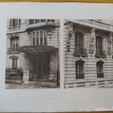 Arte: IMMEUBLE DE RAPPORT, RUE REMBRANDT, 7 ET RUE DE LISBONNE, 51 MR. G. RIVES, ARCHITECTE. 1898 33. Lote 234558585