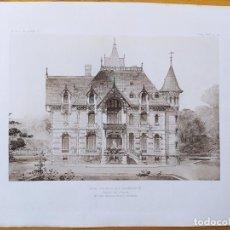 Arte: UNE MAISON DE CAMPAGNE, FACADE SUR L'ENTREE, MR. LEON HERVEY-PICARD, ARCHITECTE, 1897 28. Lote 234560080
