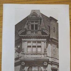Arte: BOW-WINDOW, PLACE DES ETATS-UNIS, MR. F.GAILLARD, ARCHITECTE, 1896 23. Lote 234561090