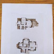 Arte: VILLA DE MR. V. BEAULIEU PLANS, MR. EMMANUELLE BRUN, ARCHITECTE, 1896 22. Lote 234561345