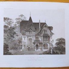 Arte: VILLA DE MR. V.BEAULIEU, FACADE SUR L'ENTREE, MR. EMMANUEL BRUN, ARCHITECTE, 1896 21. Lote 234561575