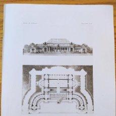 Arte: EXPOSITION DE 1900, CONCOURS DU PETIT PALAIS, PROJET DE MRS. TOUDOIRE ET PRADELLE, 3ER PRIME 1896 15. Lote 234563555