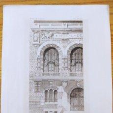 Arte: UN HOTEL DE VILLE, DETAIL DE LA FACADE SUR LA PLACE, SALLE DES FETES. MR. DUPONT, 1896 11. Lote 234564415