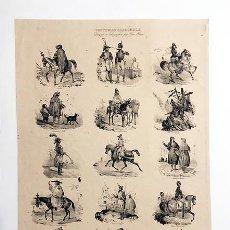 "Arte: ""COSTUMES ESPAGNOLS"". PAR VICTOR ADAM. 1835. 45 X 30 GRABADO S XIX. TIPOS ESPAÑOLES. Lote 234612905"