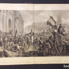 Arte: ANTIGUO GRABADO SIGLO XVIII,ARRIVÉ DU DUC D'ORLEANS ,. Lote 234623915