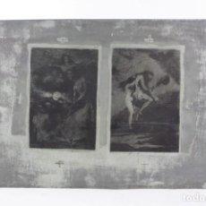 Arte: PLANCHA MODERNA DE ESTAMPACIÓN PARA LOS GRABADOS DE FRANCISCO DE GOYA, SERIE DE LOS CAPRICHOS.. Lote 234639275