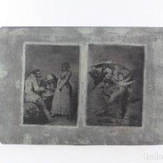 Arte: PLANCHA MODERNA DE ESTAMPACIÓN PARA LOS GRABADOS DE FRANCISCO DE GOYA, SERIE DE LOS CAPRICHOS.. Lote 234642565