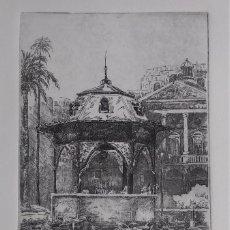 """Arte: AGUAFUERTE ORIGINAL """"CASTELLÓN"""". FIRMADO Y NUMERADO P/A. CON SELLO Y CERTIFICADO DE ARTISTA. Lote 234647150"""