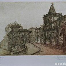Arte: AGUAFUERTE ORIGINAL. FIRMADO Y NUMERADO P/A. CON SELLO Y CERTIFICADO DE ARTISTA. Lote 234661385