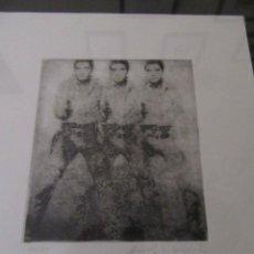 """Arte: WARHOL ANDY.""""TRIPLE ELVIS"""". GRABADO FIRMADO Y NUMERADO. CERTIFICADO.. Lote 234669925"""