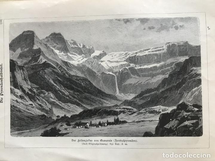 Arte: Vista de Barcelona y Pirineos (España) y Oporto (Portugal), hacia 1870. - Foto 8 - 234750035