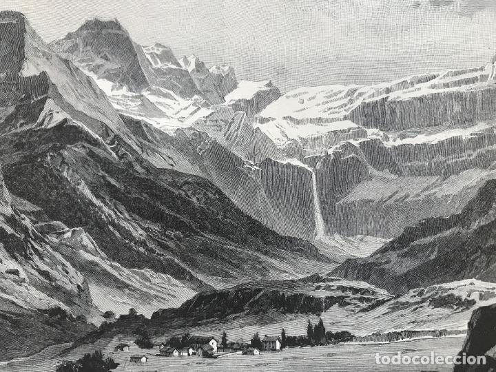 Arte: Vista de Barcelona y Pirineos (España) y Oporto (Portugal), hacia 1870. - Foto 9 - 234750035