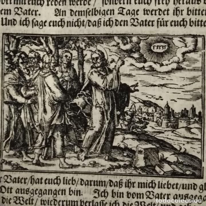 ANTIGUA BIBLIA LUTERANA, SIGLO XV - XVI (Arte - Grabados - Antiguos hasta el siglo XVIII)