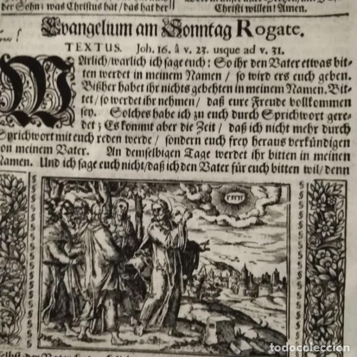 Arte: Antigua biblia luterana, siglo xv - xvi - Foto 3 - 234893455