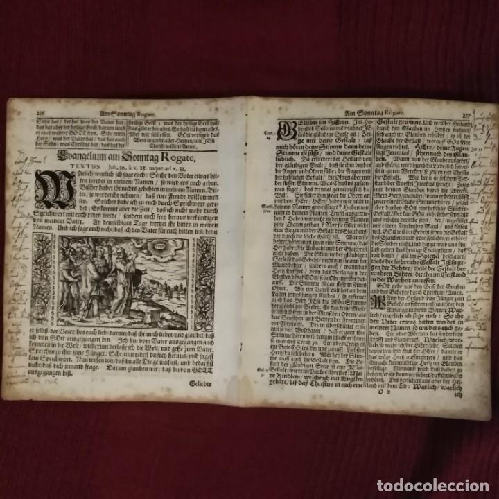 Arte: Antigua biblia luterana, siglo xv - xvi - Foto 5 - 234893455