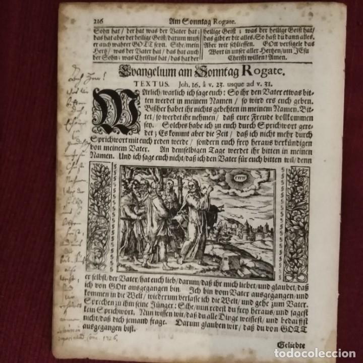 Arte: Antigua biblia luterana, siglo xv - xvi - Foto 6 - 234893455