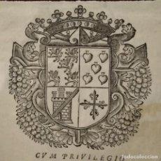 Arte: ANTIGUO GRABADO HERÁLDICO SIGLO XVIII. Lote 234900225