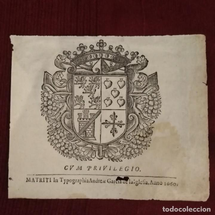 Arte: Escudo heráldico siglo xvii - Foto 2 - 234900225