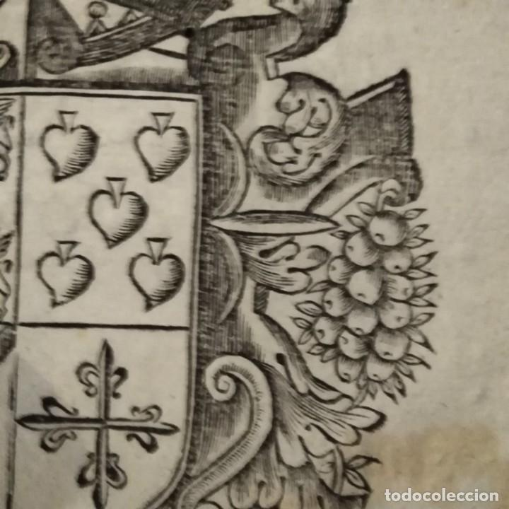Arte: Escudo heráldico siglo xvii - Foto 5 - 234900225