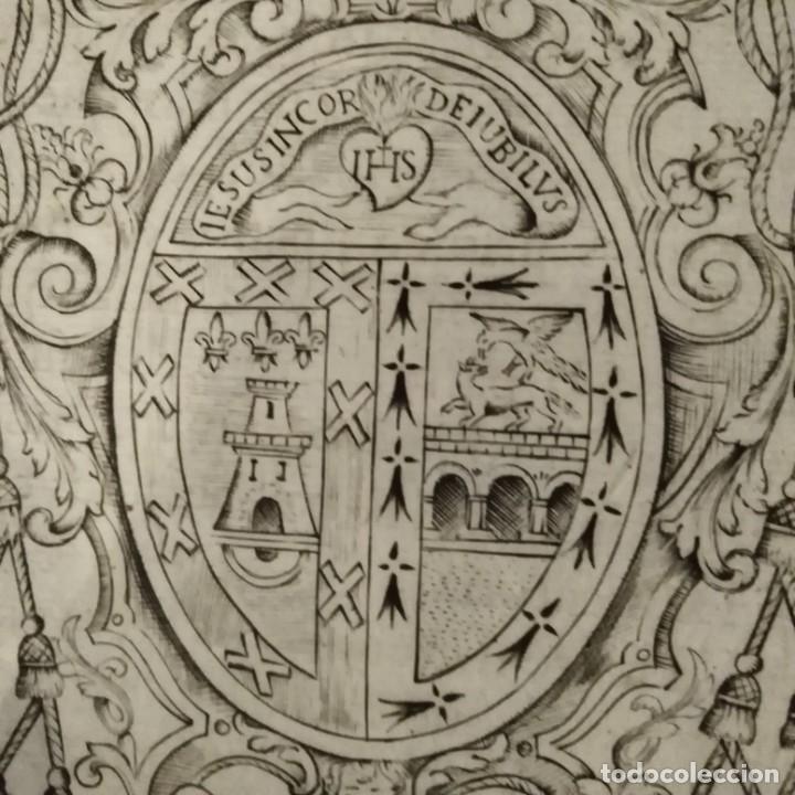 ESCUDO HERÁLDICO SIGLO XVIII (Arte - Grabados - Antiguos hasta el siglo XVIII)